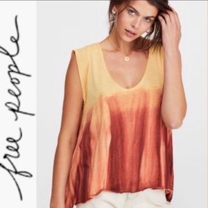 NWT Free People Sundown combo blouse size S